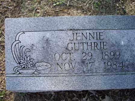 GUTHRIE, JENNIE MAE - Lawrence County, Arkansas   JENNIE MAE GUTHRIE - Arkansas Gravestone Photos