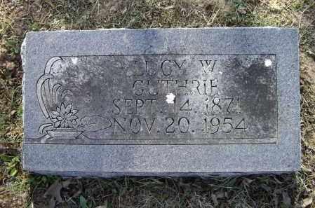 GUTHRIE, LUCY WALKER - Lawrence County, Arkansas | LUCY WALKER GUTHRIE - Arkansas Gravestone Photos