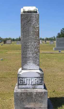 GUTHRIE, MARY M. - Lawrence County, Arkansas   MARY M. GUTHRIE - Arkansas Gravestone Photos