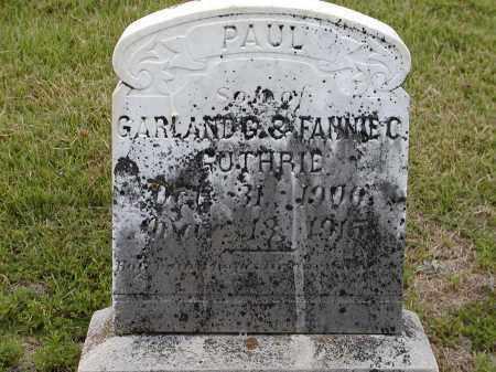 GUTHRIE, PAUL - Lawrence County, Arkansas | PAUL GUTHRIE - Arkansas Gravestone Photos