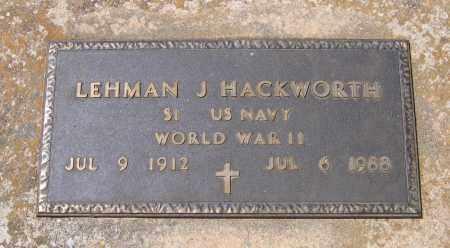 HACKWORTH (VETERAN WWII), LEHMAN J. - Lawrence County, Arkansas   LEHMAN J. HACKWORTH (VETERAN WWII) - Arkansas Gravestone Photos