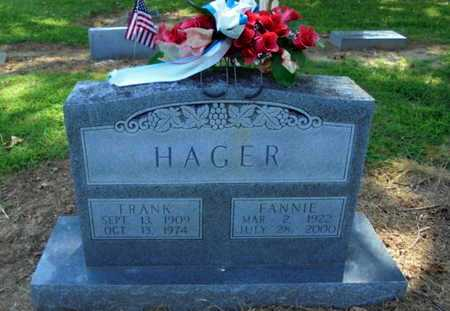 HAGER, FANNIE - Lawrence County, Arkansas | FANNIE HAGER - Arkansas Gravestone Photos