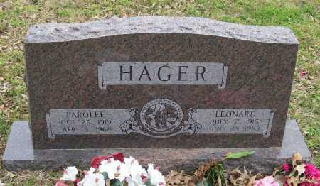 HAGER, PAROLEE - Lawrence County, Arkansas | PAROLEE HAGER - Arkansas Gravestone Photos
