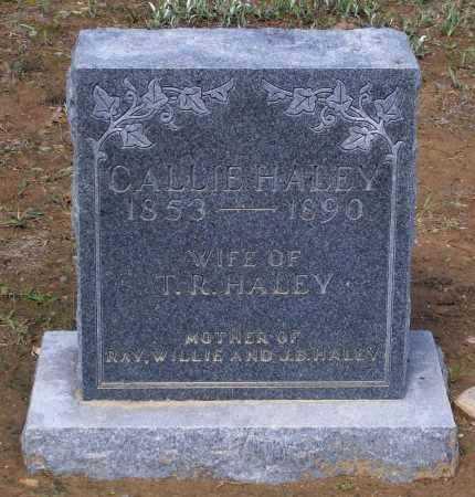 "HALEY, CAROLINE ""CALLIE"" - Lawrence County, Arkansas | CAROLINE ""CALLIE"" HALEY - Arkansas Gravestone Photos"