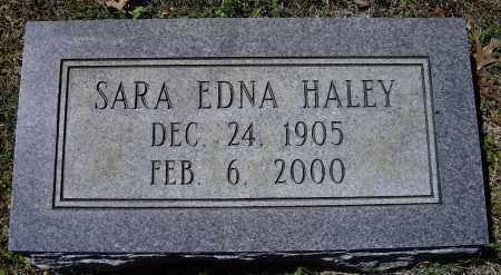 HALEY, SARA EDNA - Lawrence County, Arkansas | SARA EDNA HALEY - Arkansas Gravestone Photos