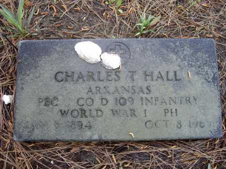 HALL (VETERAN WWI), CHARLES T. - Lawrence County, Arkansas | CHARLES T. HALL (VETERAN WWI) - Arkansas Gravestone Photos