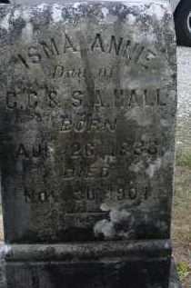 HALL, ISMA ANNIE - Lawrence County, Arkansas | ISMA ANNIE HALL - Arkansas Gravestone Photos
