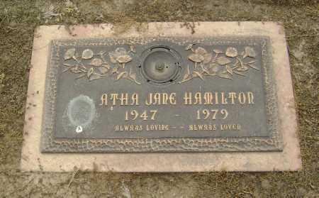 HAMILTON, ATHA JANE - Lawrence County, Arkansas   ATHA JANE HAMILTON - Arkansas Gravestone Photos