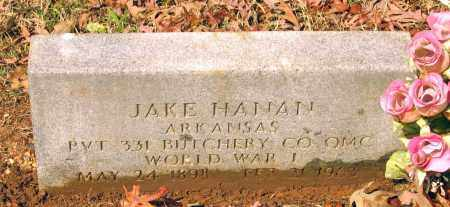 HANAN (VETERAN WWI), JAKE ANDREW - Lawrence County, Arkansas | JAKE ANDREW HANAN (VETERAN WWI) - Arkansas Gravestone Photos