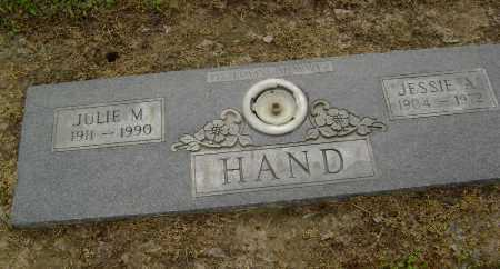 HAND, JULIE MARTHA - Lawrence County, Arkansas | JULIE MARTHA HAND - Arkansas Gravestone Photos