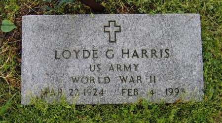 HARRIS (VETERAN WWII), LOYDE G. - Lawrence County, Arkansas | LOYDE G. HARRIS (VETERAN WWII) - Arkansas Gravestone Photos