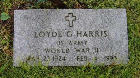 HARRIS (VETERAN WWII), LOYDE G. - Lawrence County, Arkansas | LOYDE G. HARRIS (VETERAN WWII) - Arkansas Gravestone Photos