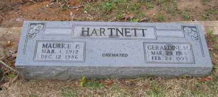 BRANHAM HARTNETT, GERALDINE M. - Lawrence County, Arkansas | GERALDINE M. BRANHAM HARTNETT - Arkansas Gravestone Photos