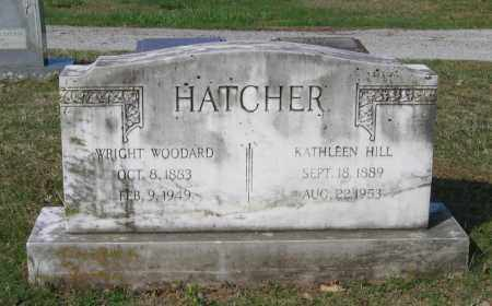 HATCHER, WRIGHT WOODARD - Lawrence County, Arkansas | WRIGHT WOODARD HATCHER - Arkansas Gravestone Photos