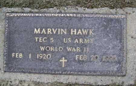 HAWK  (VETERAN WWII), MARVIN - Lawrence County, Arkansas | MARVIN HAWK  (VETERAN WWII) - Arkansas Gravestone Photos