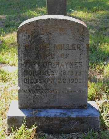 MILLER HAYNES, CARRIE C. - Lawrence County, Arkansas | CARRIE C. MILLER HAYNES - Arkansas Gravestone Photos