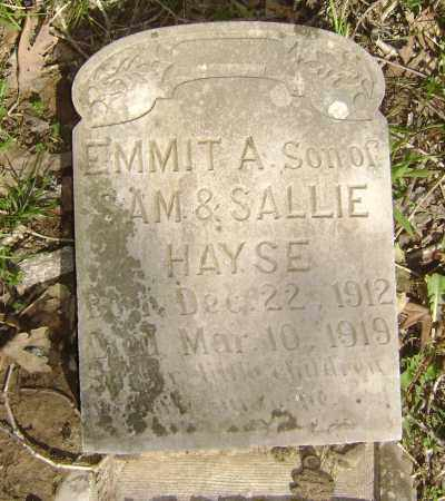 HAYSE, EMMIT A. - Lawrence County, Arkansas | EMMIT A. HAYSE - Arkansas Gravestone Photos