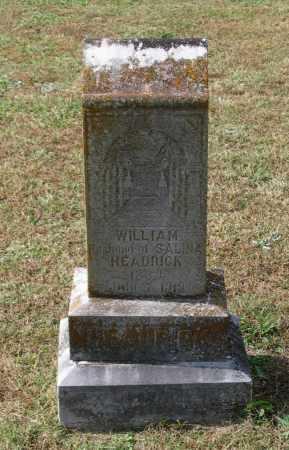 HEADRICK, WILLIAM M. - Lawrence County, Arkansas   WILLIAM M. HEADRICK - Arkansas Gravestone Photos