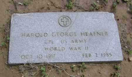 HEAFNER  (VETERAN WWII), HAROLD GEORGE - Lawrence County, Arkansas | HAROLD GEORGE HEAFNER  (VETERAN WWII) - Arkansas Gravestone Photos