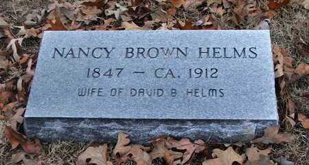 BROWN HELMS, NANCY - Lawrence County, Arkansas | NANCY BROWN HELMS - Arkansas Gravestone Photos