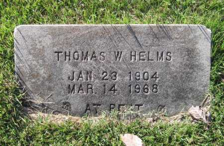 """HELMS, THOMAS WILLIAM """"TOM"""" - Lawrence County, Arkansas 