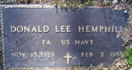 HEMPHILL (VETERAN), DONALD LEE - Lawrence County, Arkansas | DONALD LEE HEMPHILL (VETERAN) - Arkansas Gravestone Photos