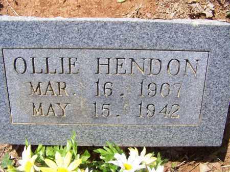 HENDON, OLLIE - Lawrence County, Arkansas   OLLIE HENDON - Arkansas Gravestone Photos