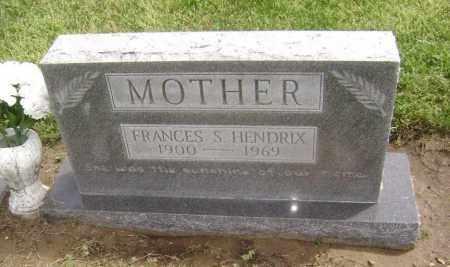 HENDRIX, FRANCES S. - Lawrence County, Arkansas | FRANCES S. HENDRIX - Arkansas Gravestone Photos