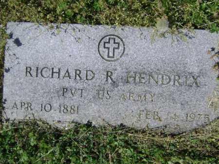 HENDRIX (VETERAN WWI), RICHARD R. - Lawrence County, Arkansas | RICHARD R. HENDRIX (VETERAN WWI) - Arkansas Gravestone Photos