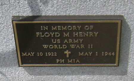 HENRY (VETERAN WWII, MIA), FLOYD M - Lawrence County, Arkansas   FLOYD M HENRY (VETERAN WWII, MIA) - Arkansas Gravestone Photos