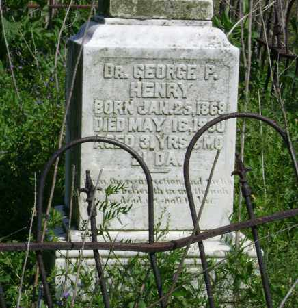HENRY, MD, GEORGE PERKINS - Lawrence County, Arkansas   GEORGE PERKINS HENRY, MD - Arkansas Gravestone Photos