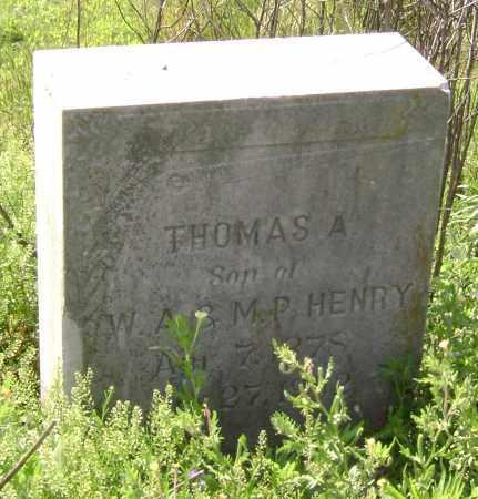 HENRY, THOMAS A. - Lawrence County, Arkansas   THOMAS A. HENRY - Arkansas Gravestone Photos