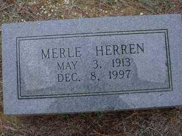 HERREN, MERLE M. - Lawrence County, Arkansas   MERLE M. HERREN - Arkansas Gravestone Photos