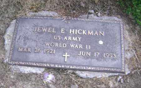 HICKMAN  (VETERAN WWII), JEWEL E - Lawrence County, Arkansas | JEWEL E HICKMAN  (VETERAN WWII) - Arkansas Gravestone Photos