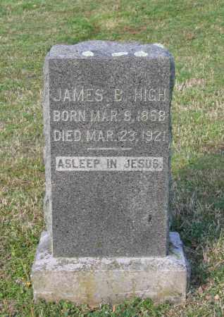 HIGH, JAMES B. - Lawrence County, Arkansas   JAMES B. HIGH - Arkansas Gravestone Photos