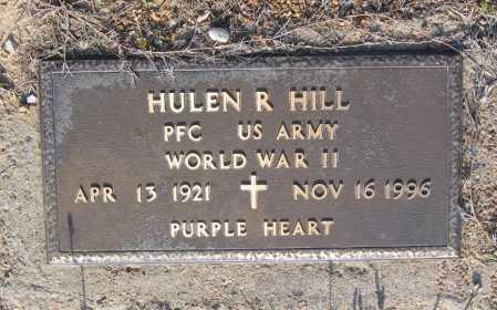 HILL (VETERAN WWII), HULEN RICHARD - Lawrence County, Arkansas | HULEN RICHARD HILL (VETERAN WWII) - Arkansas Gravestone Photos