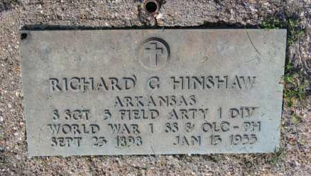 HINSHAW (VETERAN WWI), RICHARD CARON - Lawrence County, Arkansas | RICHARD CARON HINSHAW (VETERAN WWI) - Arkansas Gravestone Photos