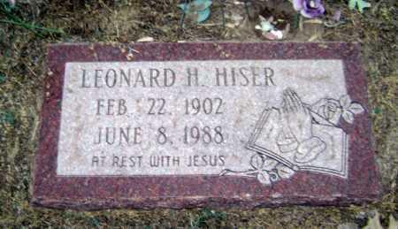 HISER, LEONARD H. - Lawrence County, Arkansas | LEONARD H. HISER - Arkansas Gravestone Photos