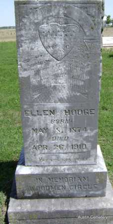 HODGE, ELLEN - Lawrence County, Arkansas   ELLEN HODGE - Arkansas Gravestone Photos