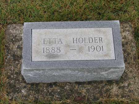 HOLDER, ETTA E. - Lawrence County, Arkansas | ETTA E. HOLDER - Arkansas Gravestone Photos