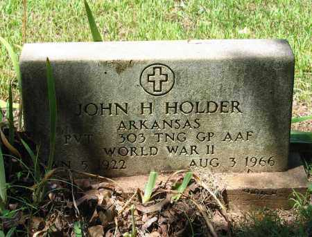 HOLDER (VETERAN WWII), JOHN H. - Lawrence County, Arkansas | JOHN H. HOLDER (VETERAN WWII) - Arkansas Gravestone Photos