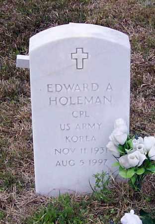 HOLEMAN (VETERAN KOR), EDWARD A. - Lawrence County, Arkansas | EDWARD A. HOLEMAN (VETERAN KOR) - Arkansas Gravestone Photos