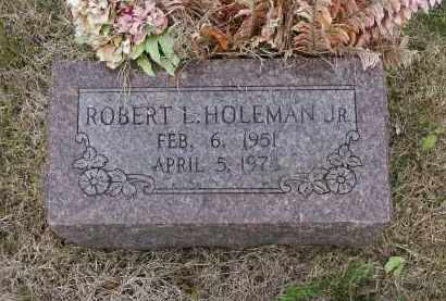 HOLEMAN, JR., ROBERT LEWIS - Lawrence County, Arkansas | ROBERT LEWIS HOLEMAN, JR. - Arkansas Gravestone Photos
