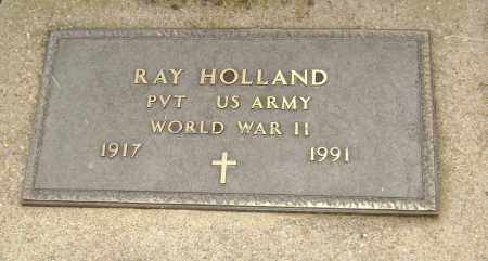 HOLLAND  (VETERAN WWII), RAY - Lawrence County, Arkansas   RAY HOLLAND  (VETERAN WWII) - Arkansas Gravestone Photos