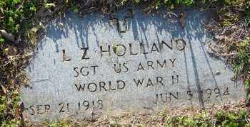 HOLLAND (VETERAN WWII), L Z - Lawrence County, Arkansas | L Z HOLLAND (VETERAN WWII) - Arkansas Gravestone Photos