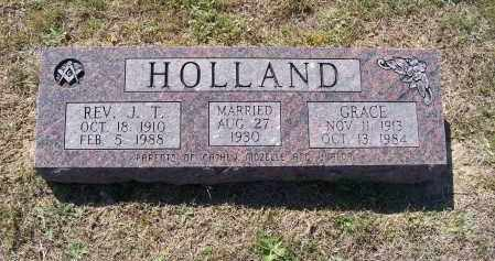 """HOLLAND, REV., JEWELL THOMAS """"J. T."""" - Lawrence County, Arkansas   JEWELL THOMAS """"J. T."""" HOLLAND, REV. - Arkansas Gravestone Photos"""