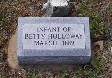 HOLLOWAY, INFANT - Lawrence County, Arkansas | INFANT HOLLOWAY - Arkansas Gravestone Photos