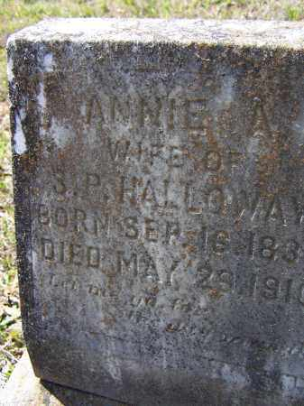 "COZORT HOLLOWAY, NANCY ALMEDIA ANN ""ANNIE A."" - Lawrence County, Arkansas 