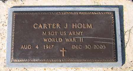 HOLM (VETERAN WWII), CARTER JAMES - Lawrence County, Arkansas | CARTER JAMES HOLM (VETERAN WWII) - Arkansas Gravestone Photos