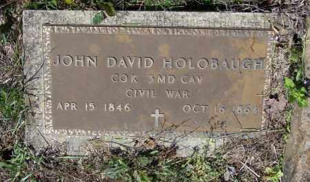 HOLOBAUGH (VETERAN UNION), JOHN DAVID - Lawrence County, Arkansas   JOHN DAVID HOLOBAUGH (VETERAN UNION) - Arkansas Gravestone Photos